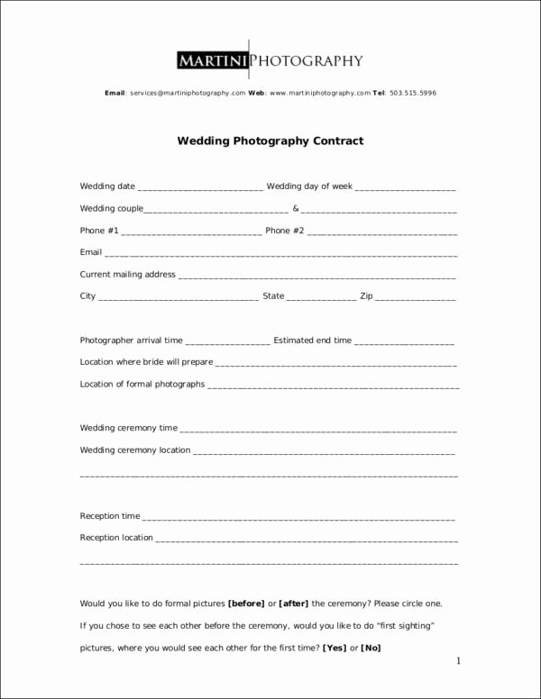 Commercial Photography Contract Template Unique 23 Graphy Contract Templates and Samples In Pdf