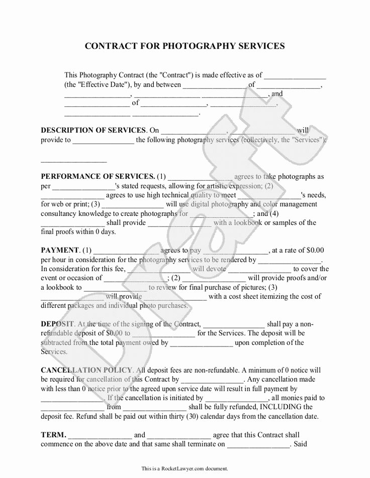Commercial Photography Contract Template Unique Best 25 Graphy Contract Ideas On Pinterest