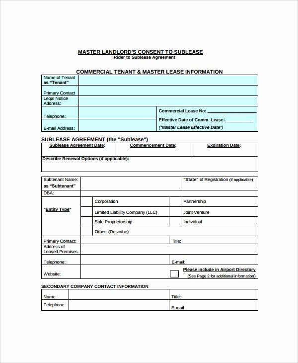 Commercial Sublease Agreement Template Lovely 10 Mercial Sublease Agreements Word Pdf Pages