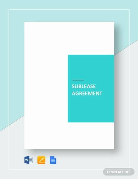 Commercial Sublease Agreement Template Lovely Free 25 Sample Free Sublease Agreement Templates In