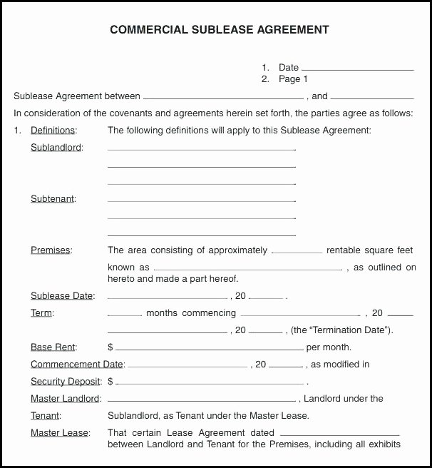 Commercial Sublease Agreement Template Unique Mercial Invoice Template Resume Examples N2bp1n6y49