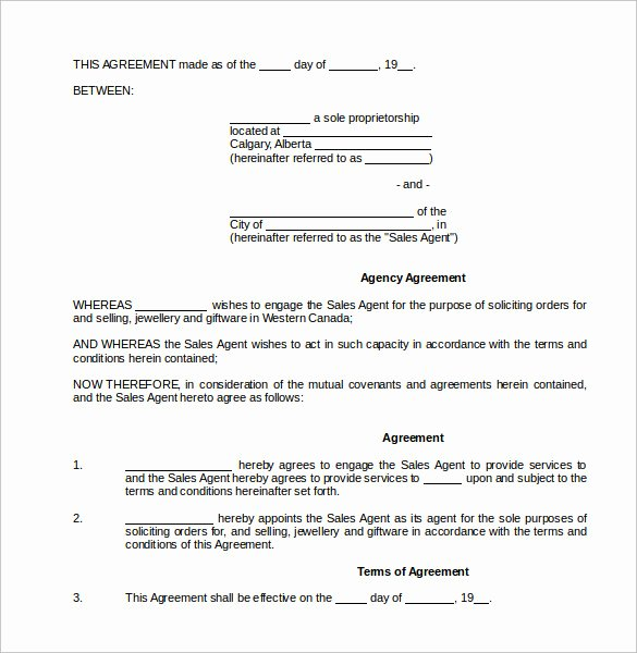 Commission Sales Agreement Template Best Of Mission Contract Template 12 Download Free Documents