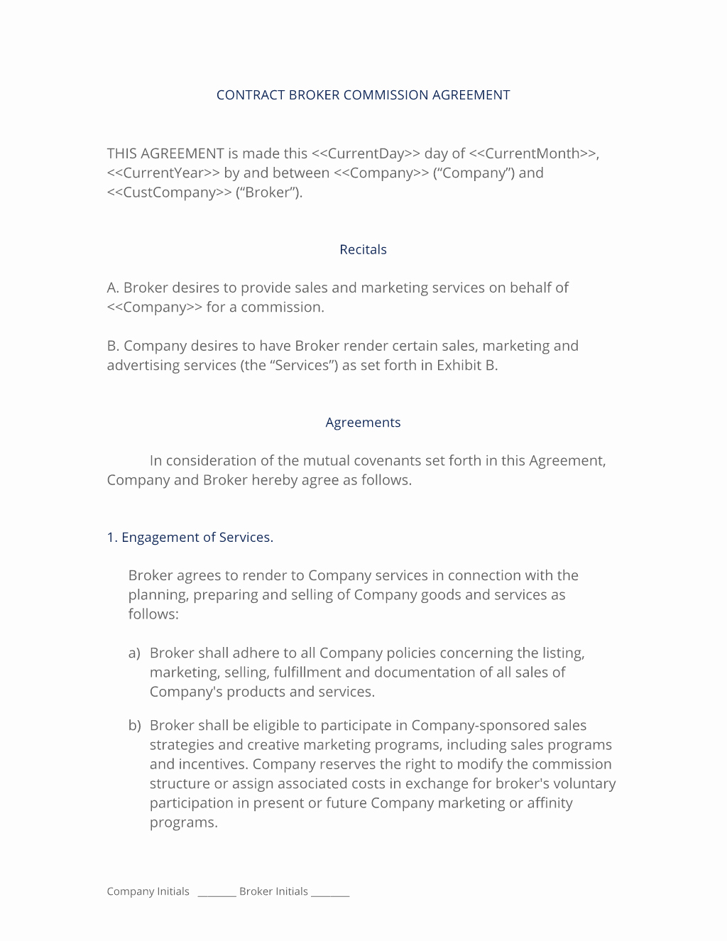 Commission Sales Agreement Template Elegant Broker Mission Sales Agreement 3 Easy Steps