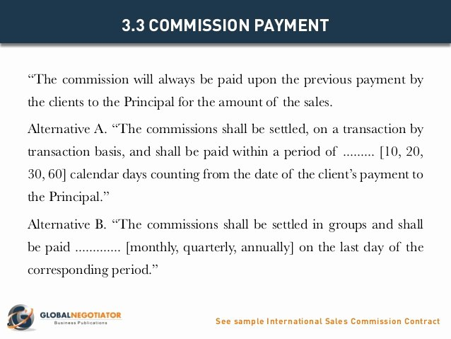 Commission Sales Agreement Template Elegant International Sales Mission Contract