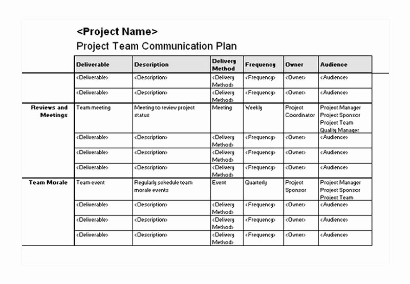 Communication Plan Template Free Awesome Munication Plan Template