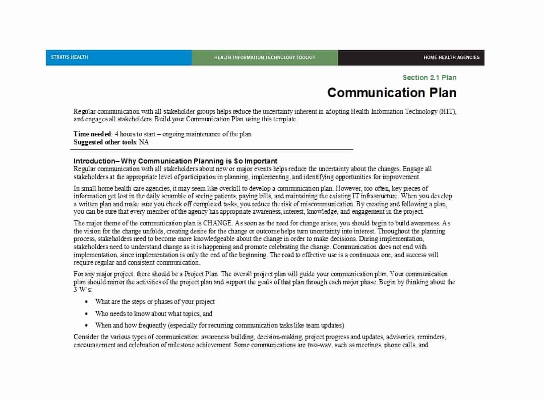 Communication Plan Template Free Elegant 37 Simple Munication Plan Examples Free Templates