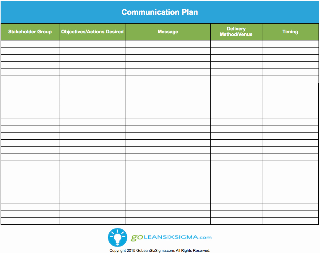 Communication Plan Template Free Inspirational Munication Plan Template & Example