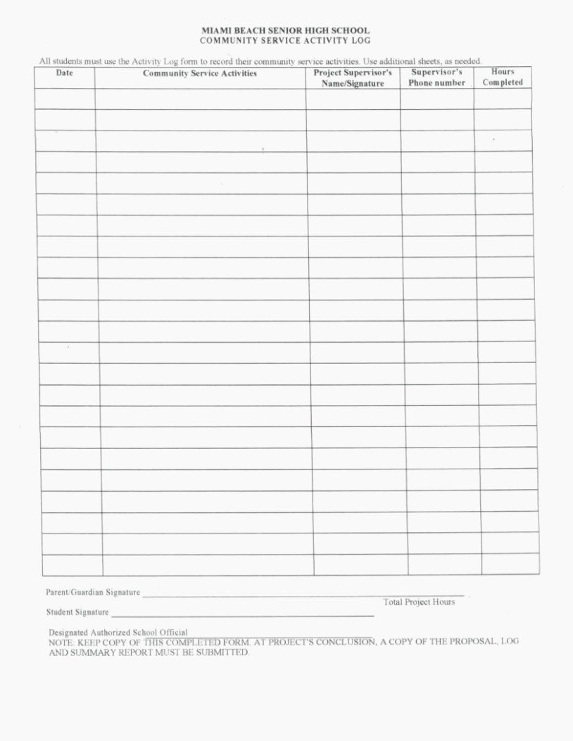Community Service Hours form Template Fresh How You Can attend