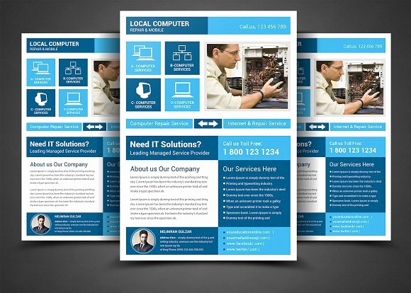 Computer Repair Flyer Templates Beautiful Puter Repair Service Flyer Templa Flyer Templates