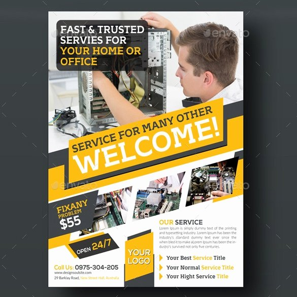 Computer Repair Flyer Templates Best Of 26 Puter Repair Flyer Templates Psd Ai Eps format