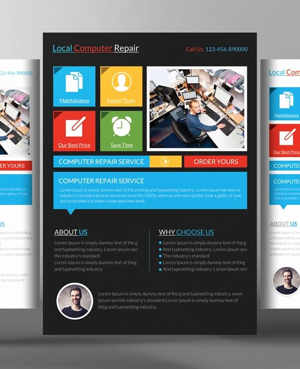 Computer Repair Flyer Templates Best Of Puter Repair Flyers Word Excel Samples