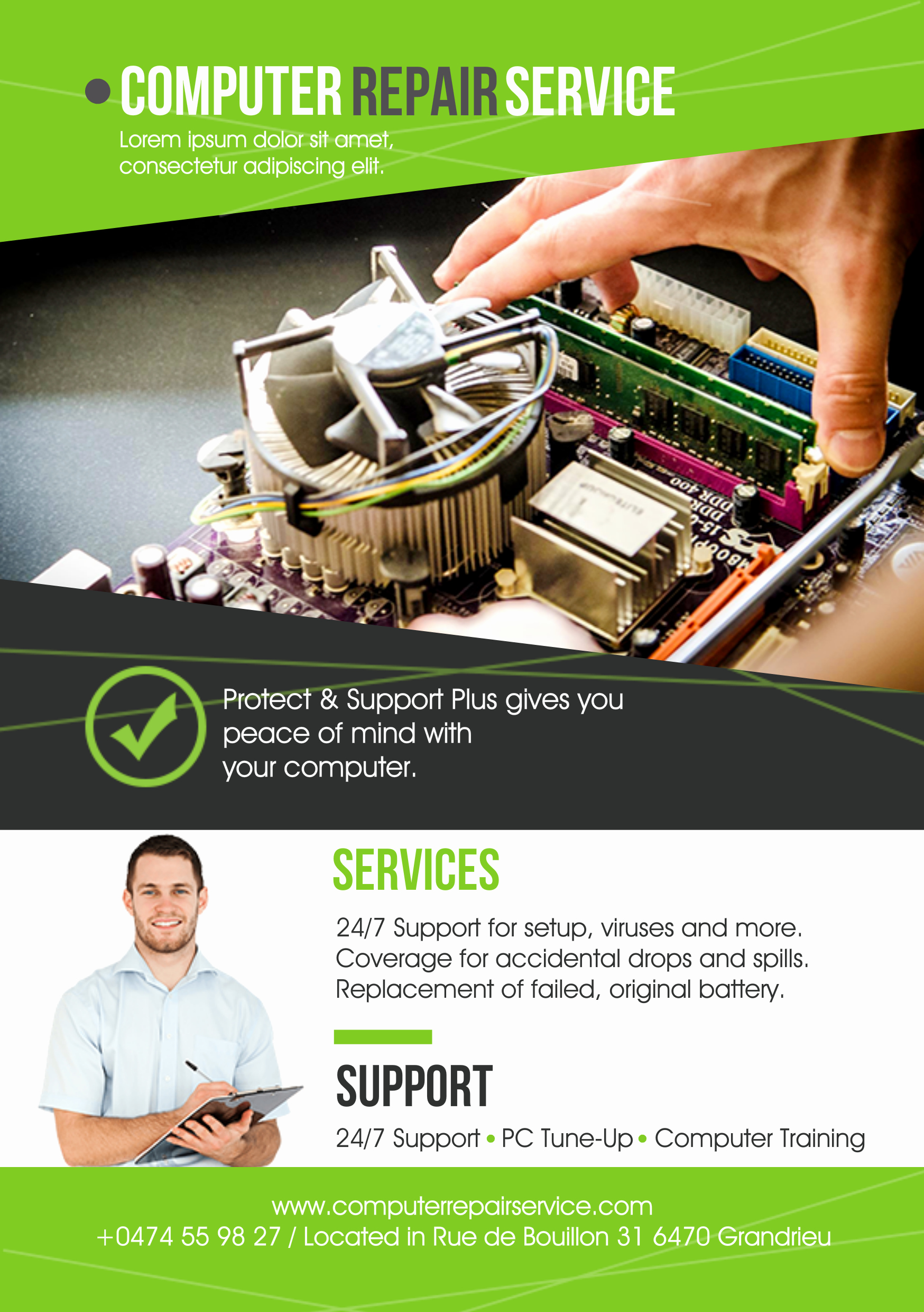 Computer Repair Flyer Templates Elegant Puter Repair A5 Promotional Flyer Premadevideos