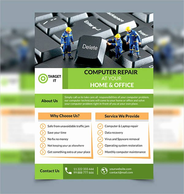 Computer Repair Flyer Templates Inspirational Puter Repair Flyers 15 Free Psd Vector Ai Eps