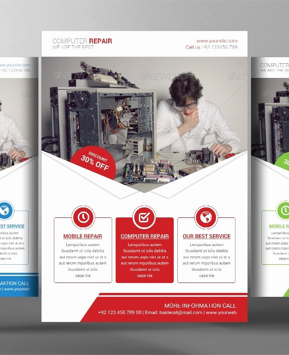 Computer Repair Flyer Templates New 26 Puter Repair Flyer Templates Psd Ai Eps format