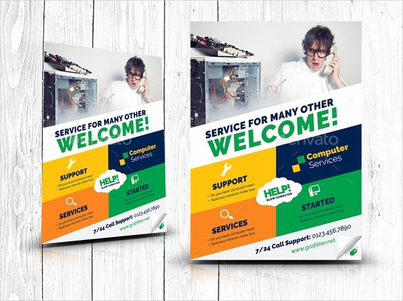 Computer Repair Flyer Templates Unique 26 Puter Repair Flyer Templates Psd Ai Eps format
