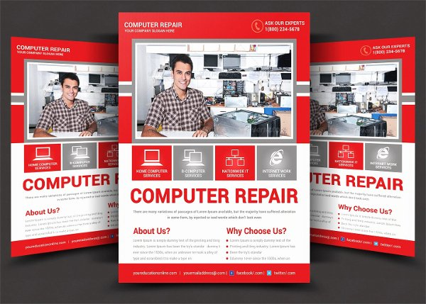 Computer Repair Flyers Templates Awesome 19 Mobile Repair Flyer Free Premium Psd Vector Png Ai