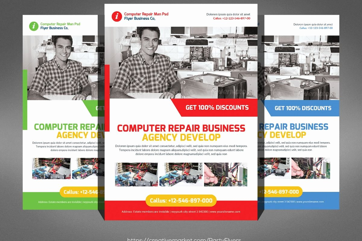 Computer Repair Flyers Templates Best Of Puter Repair Flyer