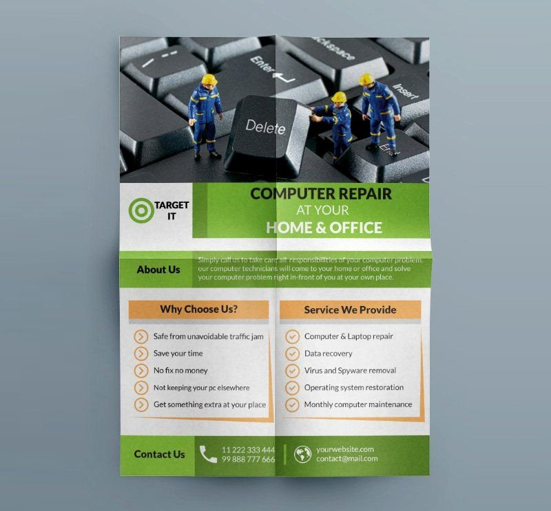 Computer Repair Flyers Templates Fresh Free Puter Repair Flyer Template Psd B