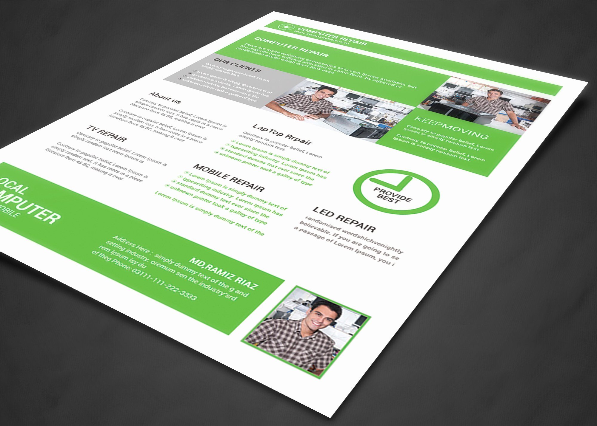 Computer Repair Flyers Templates Fresh Puter Repair Flyer Template Flyer Templates On