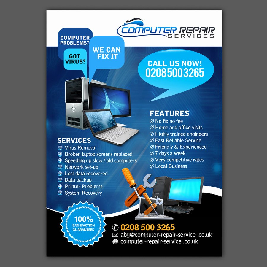 Computer Repair Flyers Templates Inspirational Design A Flyer for Puter Repairs
