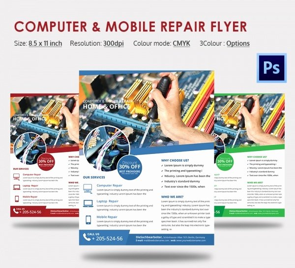 Computer Repair Flyers Templates Lovely Puter Repair Flyer Template – 21 Free Psd Ai format