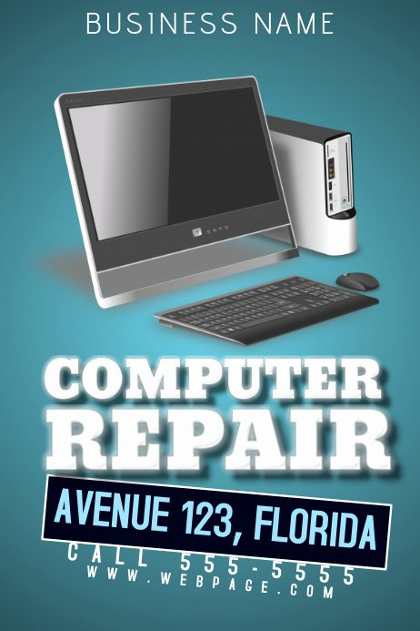 Computer Repair Flyers Templates New Puter Repair Flyer Template