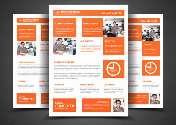 Computer Repair Flyers Templates Unique 16 Puter Repair Service Flyers Psd Template Simple