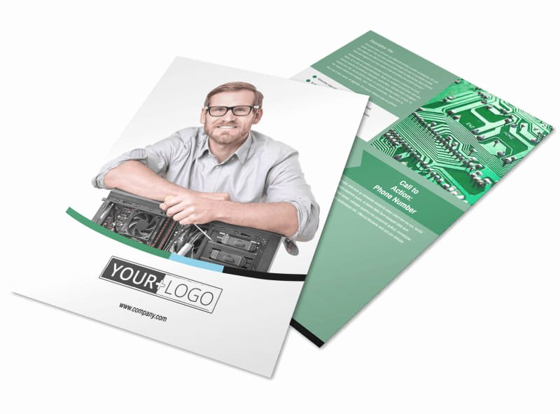 Computer Repair Flyers Templates Unique Puter Repair Shop Flyer Template