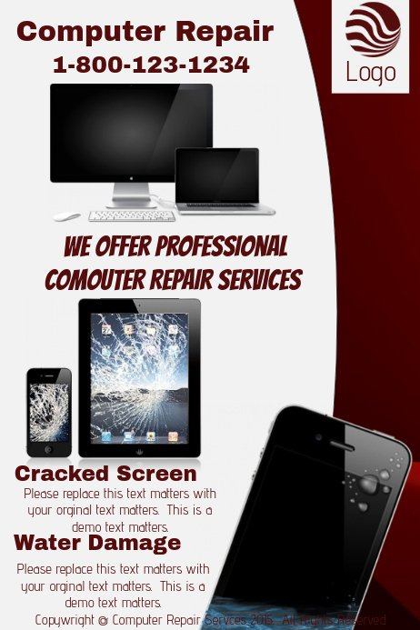 Computer Repair Flyers Templates Unique Puter Repair Website Template