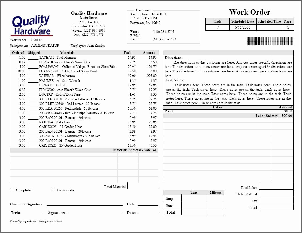 Computer Repair forms Templates Awesome Tasks & Work orders Ebms Accounting software