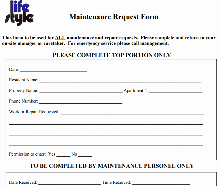 Computer Repair forms Templates Luxury 6 Free Maintenance Request form Templates Word Excel
