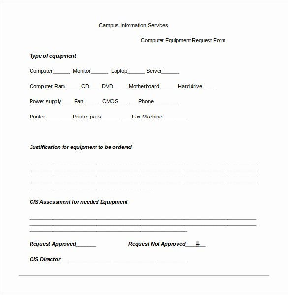 Computer Repair forms Templates Unique Sample Puter Service Request form 12 Download Free
