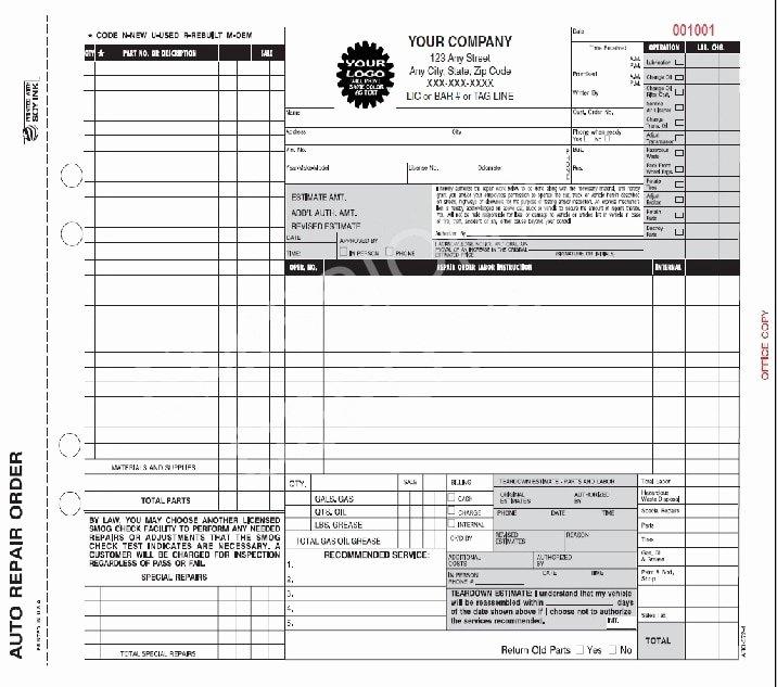 Computer Repair Work order Template Unique Aro 372 4 Auto Repair Work order Invoice