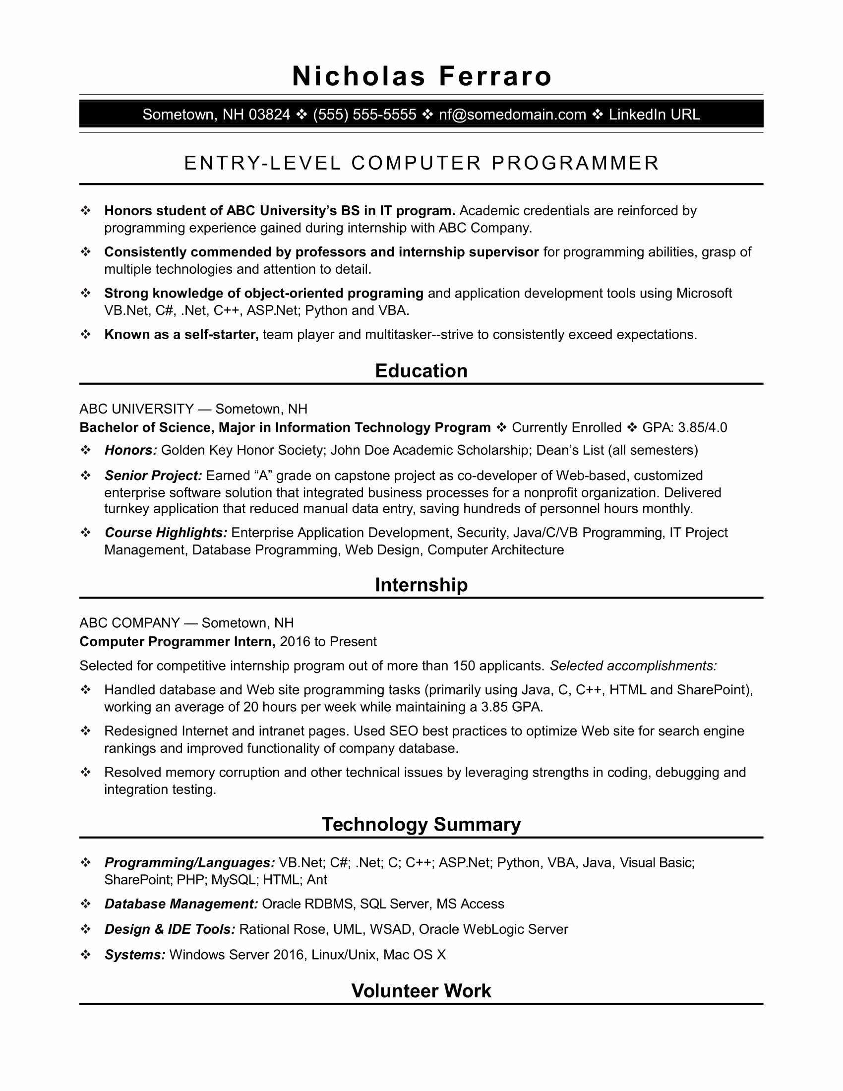 Computer Science Resume Template Best Of Resume Templates Puter Science Resume Templates