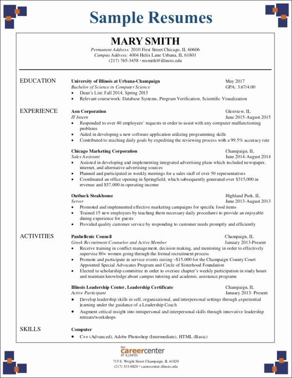 Computer Science Resume Template Luxury 3 Critical Mistakes to Avoid On Your First Ever Resume