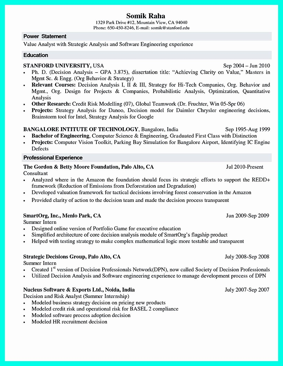 Computer Science Resume Template Unique the Best Puter Science Resume Sample Collection