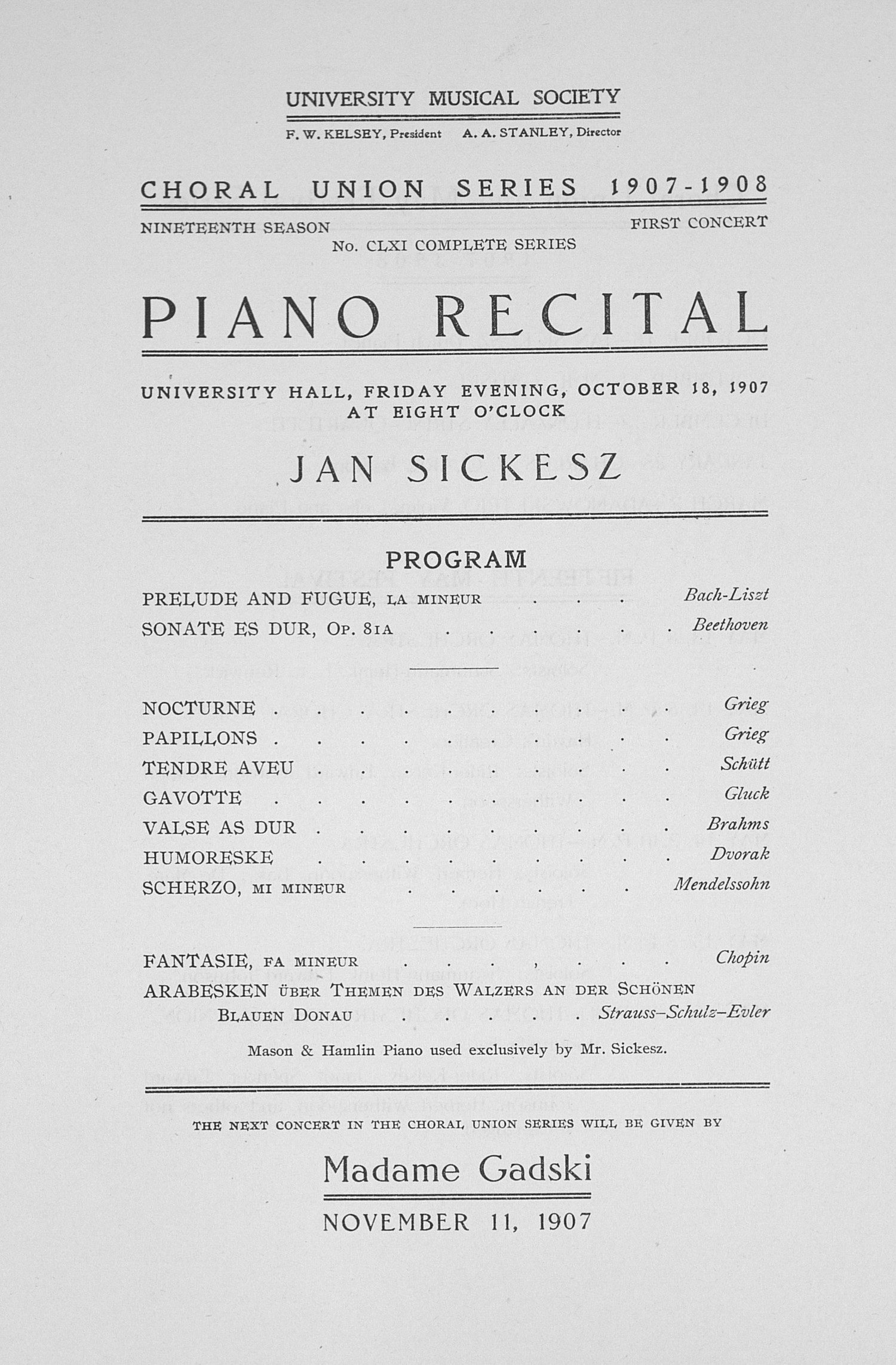 Concert Program Template Free Awesome Ums Concert Program October 18 1907 Choral Union Series