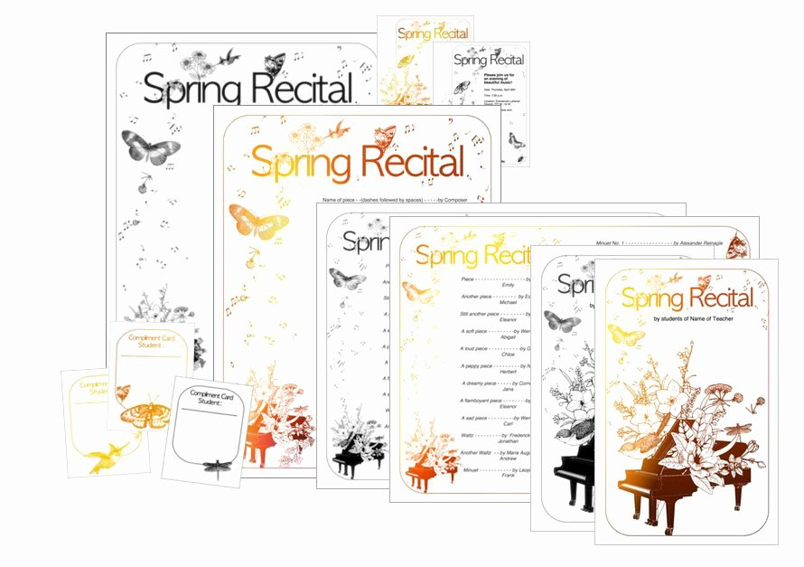 Concert Program Template Free Beautiful New Spring Recital Template Edit A Doc Pages or Pdf