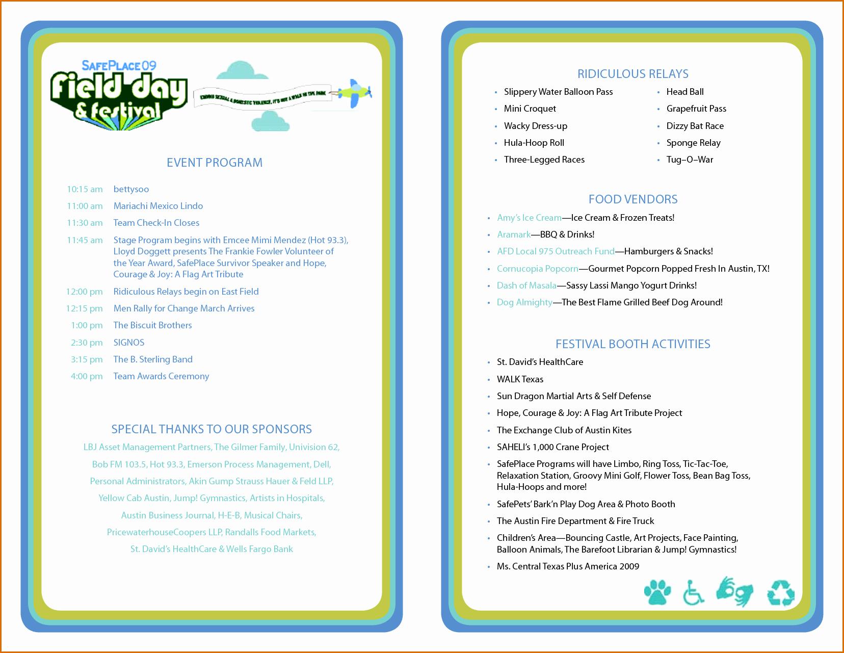 Concert Program Template Free Fresh 3 event Program Template