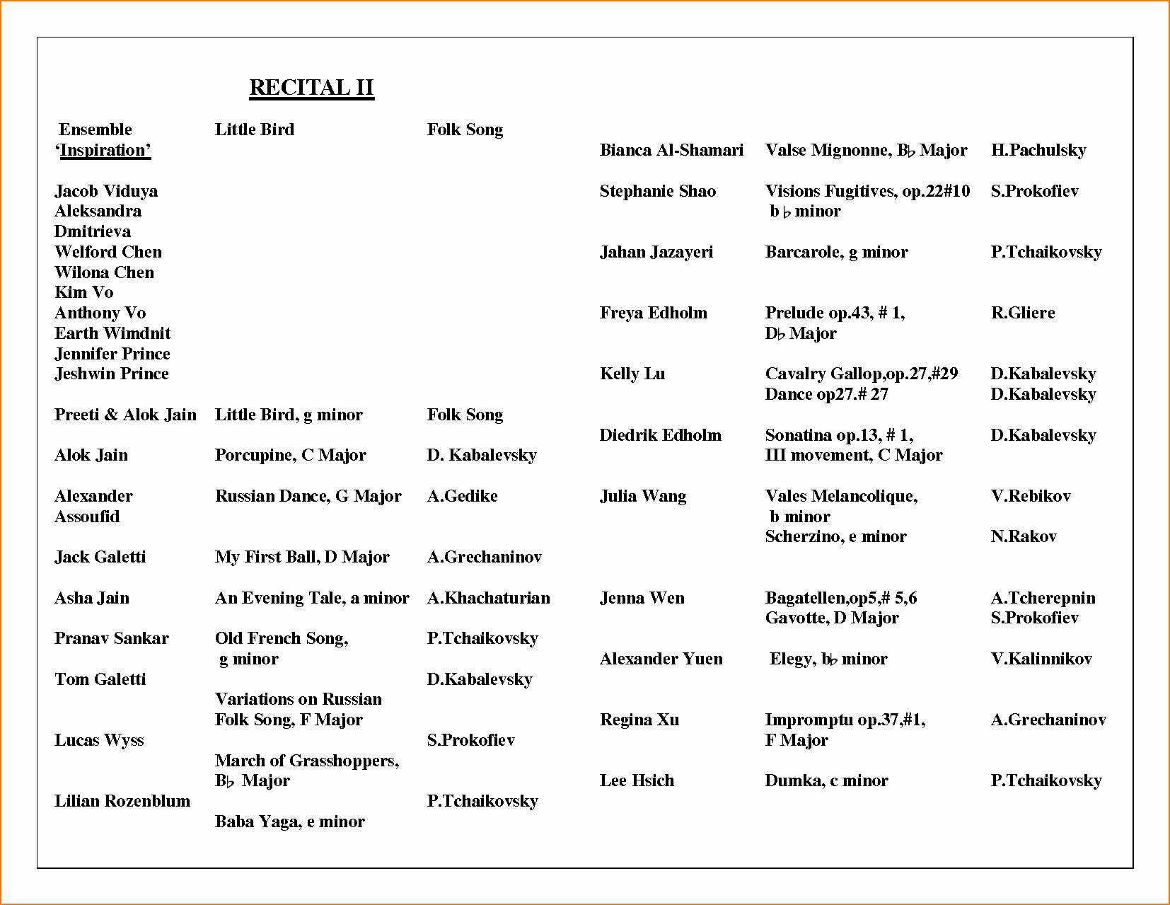 Concert Program Template Free Fresh Concert Program Template