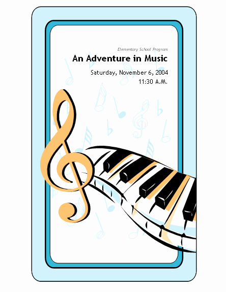 Concert Program Template Free Inspirational School Concert event Program Templates