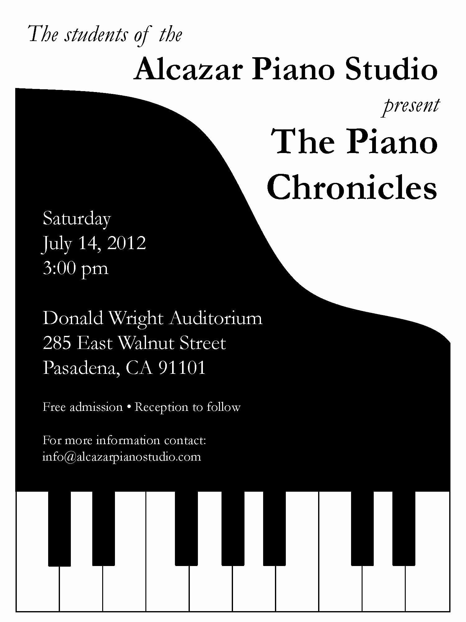 Concert Program Template Free New Piano Recital Invitation Stuff I Make