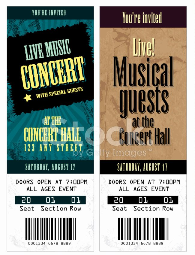 Concert Ticket Template Free Awesome 26 Cool Concert Ticket Template Examples for Your event