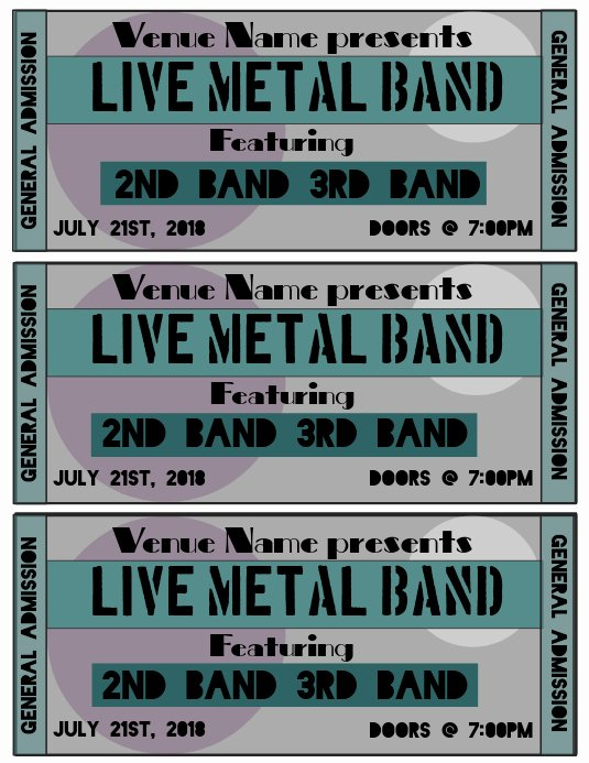 Concert Ticket Template Free Elegant Concert Ticket Template