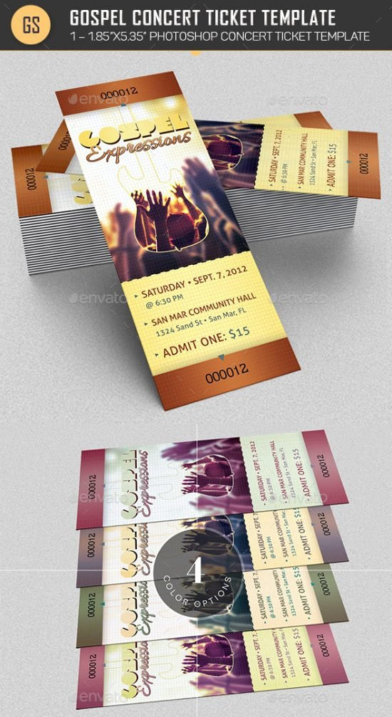 Concert Ticket Template Free Lovely 11 Concert Ticket Templates In Psd for Shop