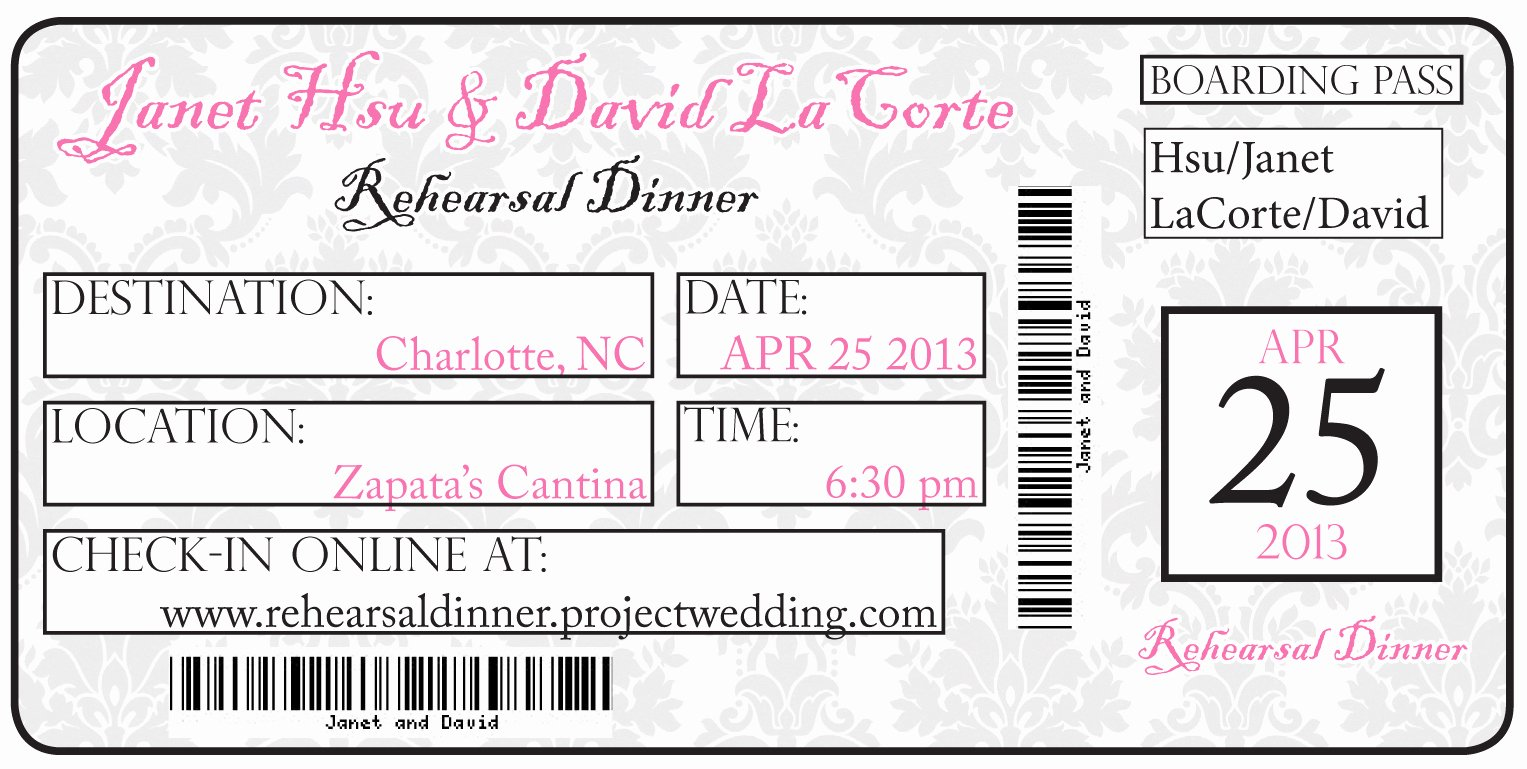 Concert Ticket Template Free Lovely Diy Travel Invitations