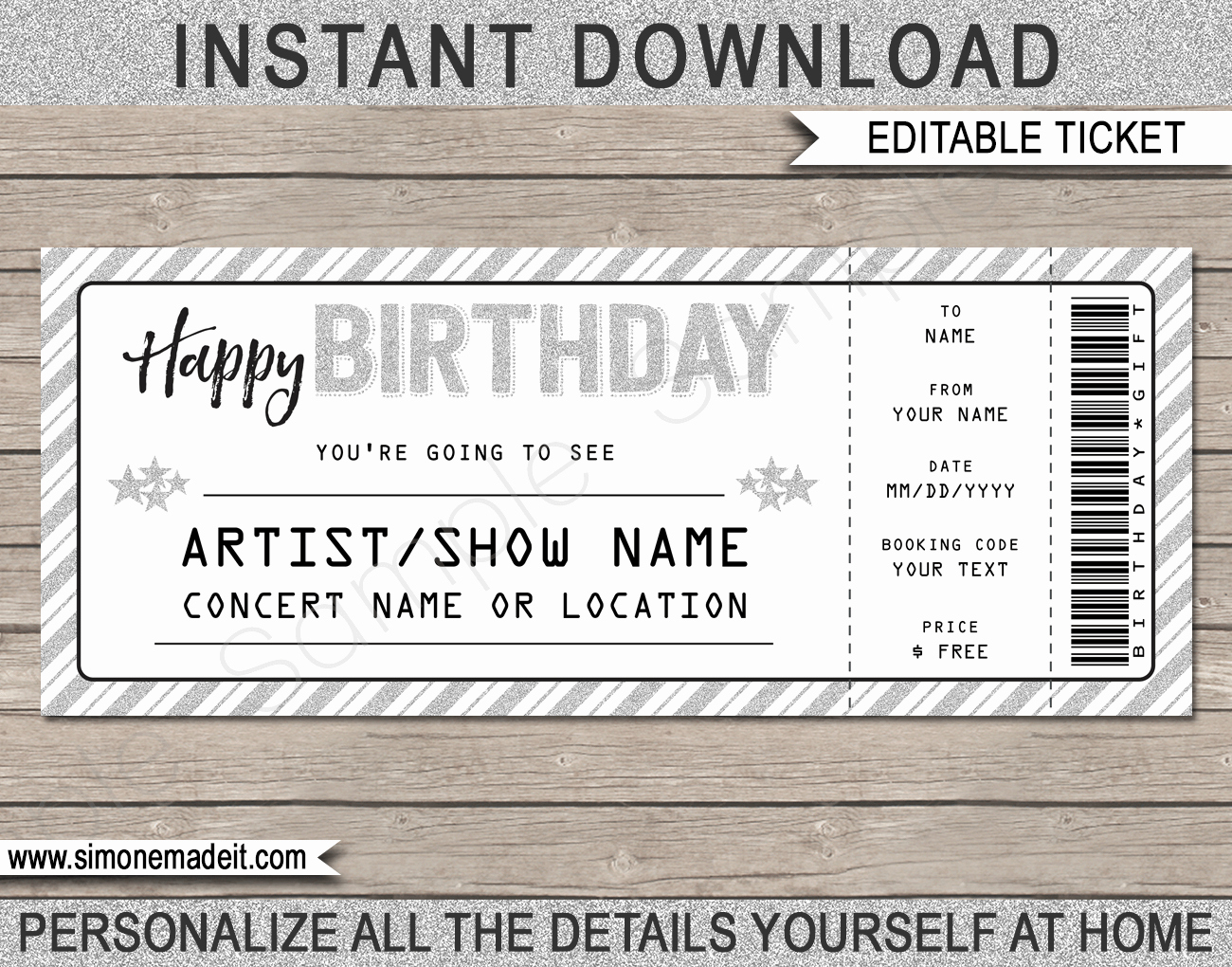 Concert Ticket Template Free Luxury Printable Concert Ticket Template