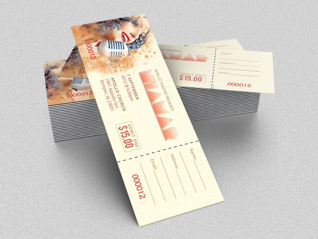 Concert Ticket Template Free Unique 18 Shop Templates Ideas