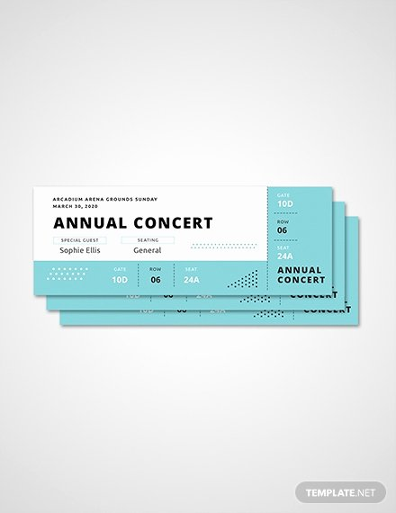 Concert Ticket Template Free Unique Free Ticket Templates Download Ready Made