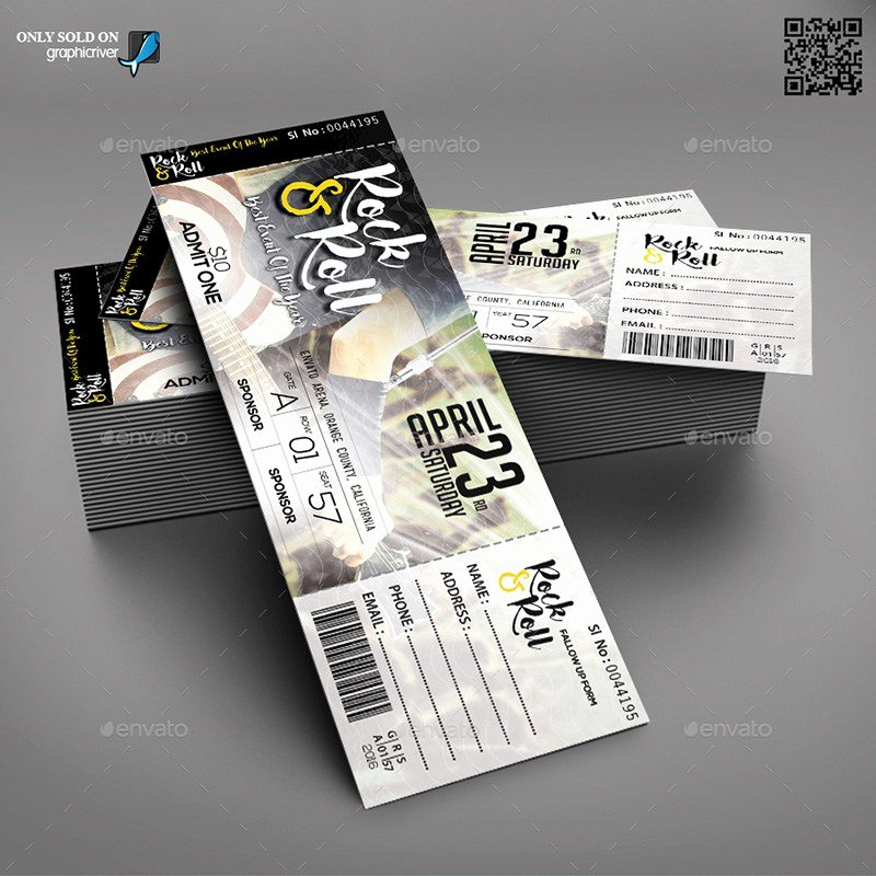 Concert Ticket Template Psd Awesome 20 Best event Concert Ticket Psd Templates
